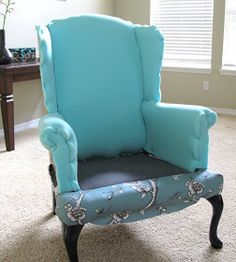re-upolster wing back chair. Vintage Blossom Wingback Chair