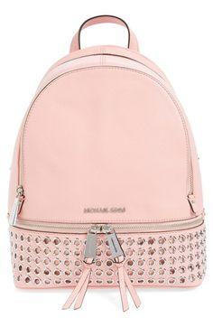 MICHAEL Michael Kors 'Rhea - Zip Grommet' Leather Backpack