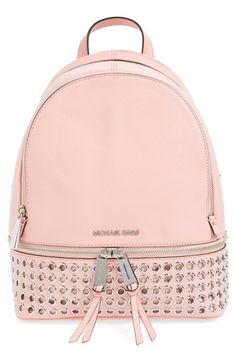 MICHAEL Michael Kors 'Rhea - Zip Grommet' Leather Backpack