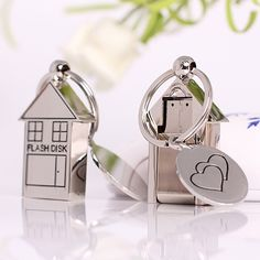 Metal House With Keychain Usb Flash Drive 512GB 64GB 8GB 16GB 32GB Metal Memoria Usb Stick Pen Drive 512GB Flash Card 3.0 Key