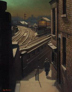 Weekday Cross, Nottingham. Moonlight Walk Down Middle Hill, by Rob Rowland.
