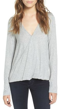 Women's Lush Surplice Tee. The easiest top to throw on for spring for only $20 at #Nordstrom! #spring #springtrends #tunic