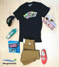 Nuovi arrivi! T-shirts/Scarpe/Cappello/Occhiali #Vans Pantaloni #Carhartt chino #AngoloOutfit by Consuelo Albanesi www.facebook.com/angolodellosport