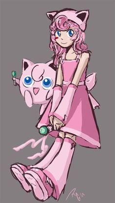 Gijinka - Jigglypuff by Artema on DeviantArt Pokemon Costumes, Pokemon Cosplay, Pokemon People, All Pokemon, Video Game Characters, Cartoon Characters, Jigglypuff Costume, Family Cosplay, Pokemon Gijinka