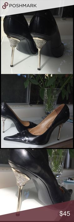 Crystal heel pumps size 39 from Europe Crystal heel pumps size 39 from Europe excellent condition medea Shoes Heels