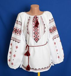 A sorochka is a traditional Ukrainian embroidered shirt made of linen or cotton. The embroidery patterns very with the region or village where