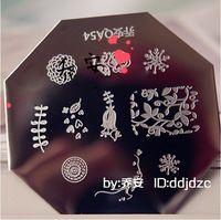 Newest  Design  10 pieces/lot   Stamping Nail Plates  Nail Art Stamper  Nail Plates  QA54