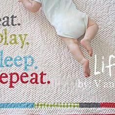 sweet baby blanket (eat, play, sleep, repeat)