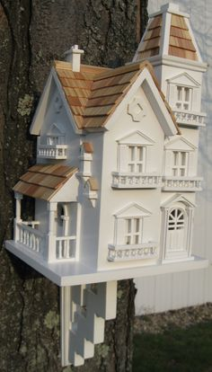 There is nothing modest about this Avian Victorian Mansion. Topped with pine shingles and patterned from our best selling Manor Birdhouse (HBI-2014), this style has intricate details including window