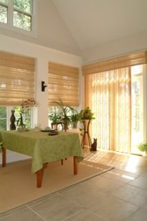 Averte vertical blinds, vertical shades, and natural drapery panels. Great for sliding glass doors and large expanses of windows. Sliding French Doors, French Doors Patio, Sliding Patio Doors, Sliding Glass Door, Sliding Door Window Treatments, Window Treatments Living Room, Window Blinds, Room Window, Glass Door Coverings