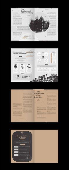 탐정사관학교 입학 안내 책자 및 포스터 / 편집디자인 - 그래픽 디자인, 브랜딩/편집 Magazine Layout Design, Book Design Layout, Print Layout, Art Design, Magazine Layouts, Editorial Layout, Editorial Design, Graphic Design Posters, Graphic Design Inspiration