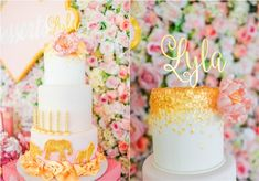 Lyla's Pink and Gold Jungle Safari Themed Party – Cake
