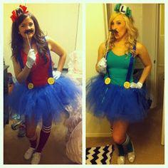 tutu mario and luigi halloween costume Costume Halloween, Cute Costumes, Halloween Party, Costume Ideas, Halloween 2013, Girl Costumes, Halloween Clothes, Awesome Costumes, Halloween Ideas