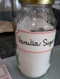 vanilla sugar recipe {vanillin zucker} | Little Birdie Secrets