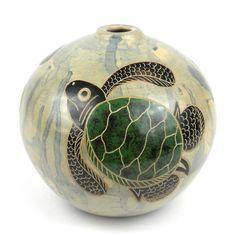4 inch Round Vase - Turtle - Esperanza en Accion