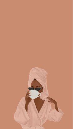 Black Girl Art, Black Women Art, Art Girl, Brown Aesthetic, Aesthetic Art, Aesthetic Iphone Wallpaper, Aesthetic Wallpapers, Black Art Painting, Cartoon Art