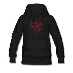 Celtic heart, endless knots, love & loyalty Hoodie   Spreadshirt   ID: 23290406