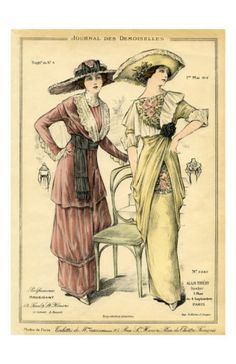 1912 - (vintage lady, edwardian, fashion)