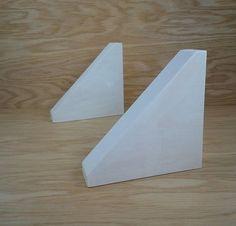 Items similar to Simple Wood Corbel Shelf Brackets - 45 Degree Corbel on Etsy Wooden Shelf Brackets, Wood Shelf, Wooden Shelves, Handmade Wooden, Hacks, Simple, Etsy, Design, Diy Wood Shelves