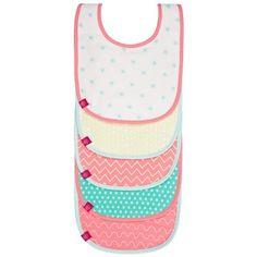 Le lot de bavoirs Rêve d'été rose et bleu  de la marque Lässig protégera les vêtements de votre enfant lors de ses repas.