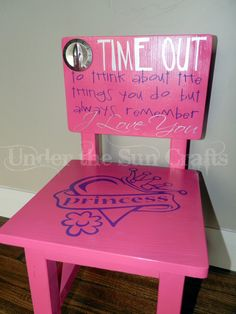 & Cute time out chair | DIY | Pinterest | Craft Babies and Grandkids