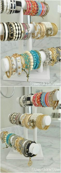 Bracelet Rack - 25 Life-Changing PVC Pipe Organizing and Storage Projects