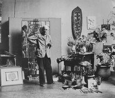 Painter Georges Braques, Paris 1948. Photographer: Wilhelm Maywald