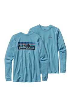 A durable long sleeved, organic cotton, regular fit T-shirt that's made with U.S. grown organic cotton and imprinted with a Patagonia original graphic using PVC- and phthalate-free inks. Specification