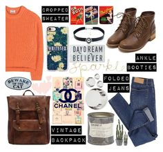 """""""Rocking Vintage"""" by dhitabella ❤ liked on Polyvore featuring Acne Studios, Cheap Monday, Casetify, Le Labo, Chanel, Child Of Wild, Fornasetti, Sugarboo Designs and vintage"""
