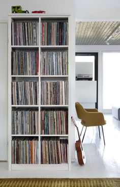 Spectacular Bookshelf Record Collection Vinyl - Spectacular Bookshelf Record Collection Vinyl, Records are perfect for projects, there are loads o - Vinyl Storage, Lp Storage, Vinyl Shelf, Dj Pult, Home Music, Art Music, Record Shelf, Vinyl Room, Audio Room