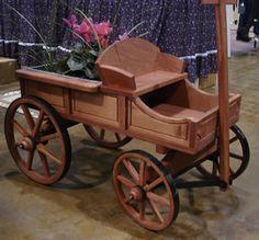 Amish Old Fashioned Buckboard Wagon - Small