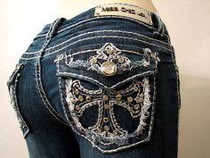 Miss Me jeans w/ cross on pocket