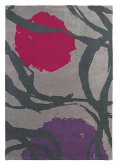 Soleil Magenta Rug Small - Harlequin Rugs - Soleil is an individual, compelling design in a confident colour palette. This design is fashion-led and uber modern, with a retro influence. Handtufted, pure new wool. 3 sizes available – this is wide x long. Home Carpet, Rugs On Carpet, Carpets, Rug Store, Pretty Patterns, Cool Rugs, Rugs Online, Modern Rugs, Handmade Rugs