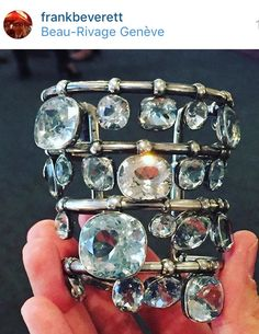 SUZANNE BELPERRON MULTI-HUED TOPAZ CUFF BRACELET ca. 1935~ Formerly in the collection of the designer, Elsa Schiaparelli. This bracelet sold at auction at Sotheby's for $212,000.