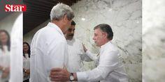 ABD ile Venezuela arasında üst düzey temas: Ülkeleri arasında gerilim bulunan Venezuela Devlet Başkanı Nicolas Maduro ile ABD Dışişleri Bakanı John Kerry tarihi barış anlaşmasına tanıklık etmek için bulundukları Kolombiyada görüştü.