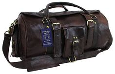 Genuine Leather Bag Shop 21x11x11 Vintage Style Carry On Cabin Luggage Flap Duffel ** Visit the image link more details. (Note:Amazon affiliate link)