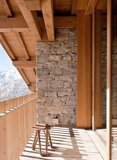 Stone and wood in the mountains...dig it
