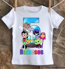 Teen Titans Go Birthday Shirt - 6 t-shirt / Long Sleeve