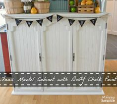 See how to create your own gorgeous mantel from a thrift store china hutch at maisondepax.com