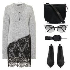 """""""#418"""" by missad3 ❤ liked on Polyvore featuring Thakoon, Alexander Wang, Acne Studios, MAHA LOZI and Fendi"""