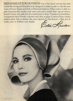 Estée Lauder New Make Up For Moderns 1965 @ MyFDB Vintage Vogue, Vintage Fashion, 1960s Fashion, Vintage Advertisements, Vintage Ads, Vintage Style, Blond, Makeup Ads, Beauty Ad