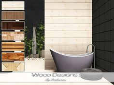 Wood Designs 3 by Pralinesims - Sims 3 Downloads CC Caboodle