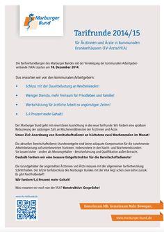 Flugblatt zu den Forderungen des Marburger Bundes