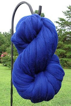 Sapphire Blue Wool Top Roving Fiber Spinning, Felting Crafts USA (1lb) *** Read more reviews of the product by visiting the link on the image.