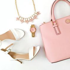 Pink and white // Tory burch