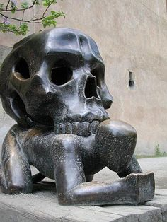 """Parable with a Skull""  Jaroslav Rona à Prague (Czech Republic)"
