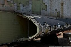 The following pictures show the remains of the space shuttle Buran 12