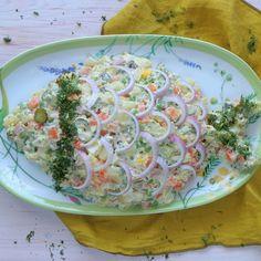 Good Food, Yummy Food, Delicious Recipes, Greek Recipes, Potato Salad, Potatoes, Meat, Ethnic Recipes, Delicious Food
