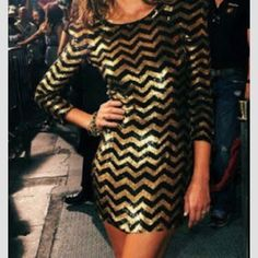 NYE DRESS BLACK AND GOLD
