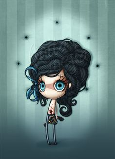 Lovely blues in Anita Mejia's illustration.